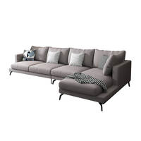Modern Fabric L Shaped Couch Lounge Modular Sectional Sofa For Living Room Furniture