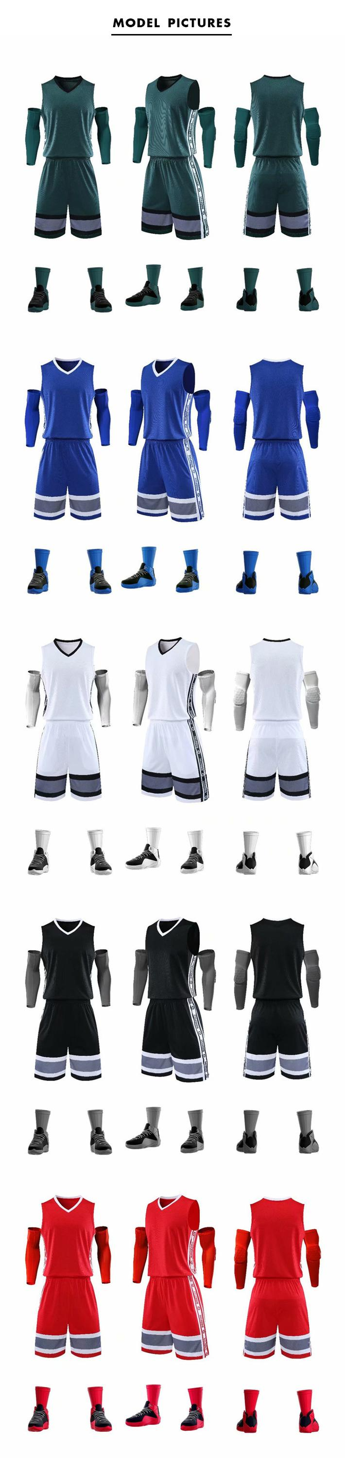 Ready to Ship Basketball Team Uniform Sublimated Basketball Jerseys