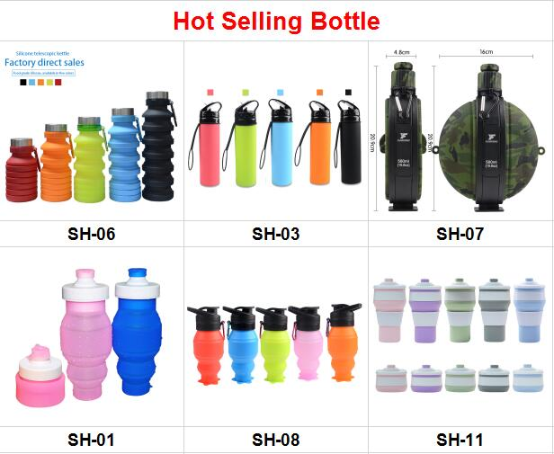 Shenzhen Sport Bottle Silicone Drinking Water Bottle With Customized Logo