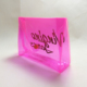 Plastic pink funny makeup snap button clear min cosmetic pvc bag