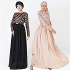 2019 New women fashion long skirt top grade sequins two color abaya muslim dresses
