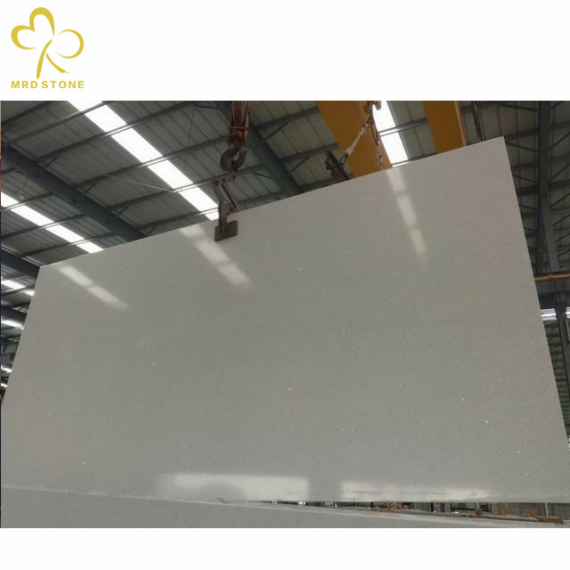 Hot Selling SGS Approved Artificial White Sparkle Quartz Stone