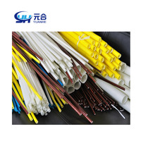 2740 1.2KV Silicone Fiberglass Sleeving Electrical Insulation material Fiberglass braided sleeving acrylic sleeves