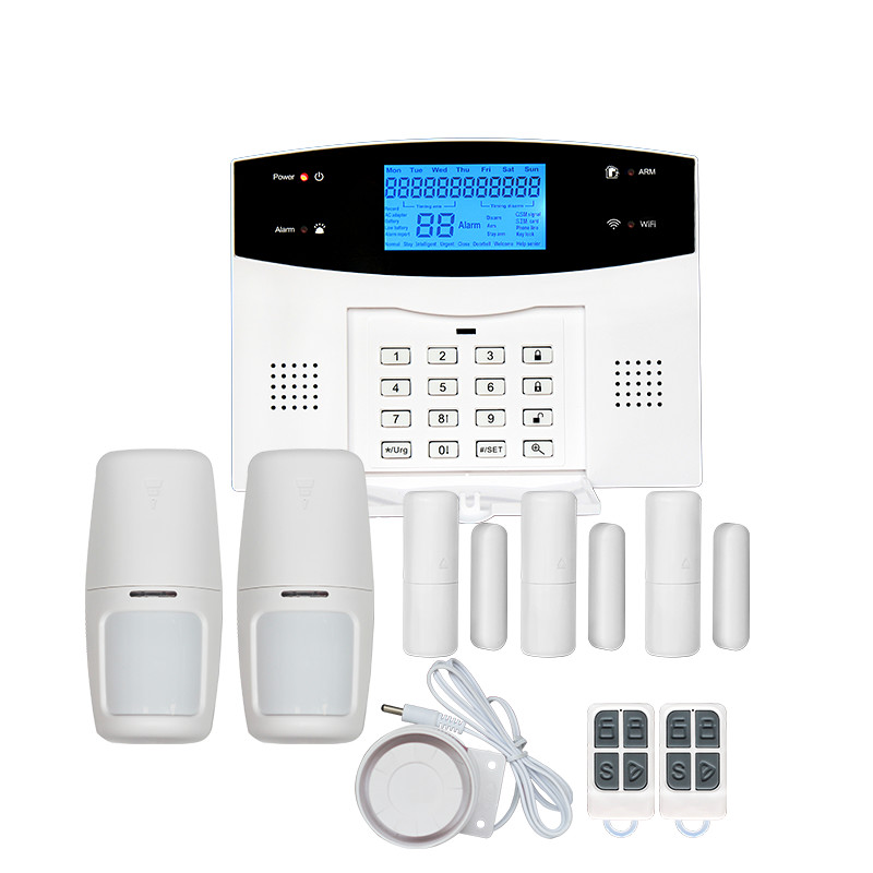 Multi-language WiFi+<strong>GSM</strong>+PSTN 433 Mhz Intelligent Alarm System With 110db siren with IP Camera