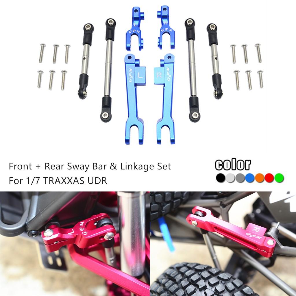 HR front /& rear anti-sway bar anti-roll swaybar set for 1//7 Traxxas UDR