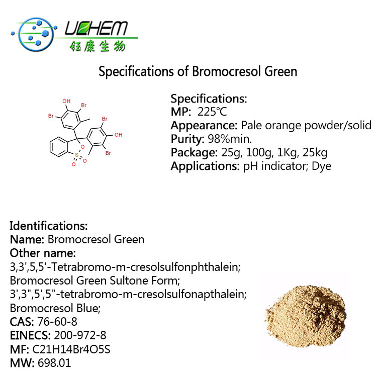 High quality Bromocresol Green CAS NO 76-60-8