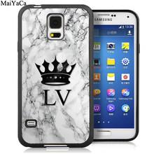 MaiYaCa мраморные индивидуальные инициалы телефонные чехлы для samsung Galaxy S5 S6 S7 edge S8 S9 S10 Plus Lite Note 8 9 задняя крышка(Китай)