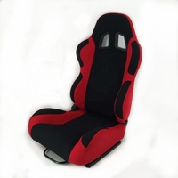 Customized Racing Seat Red Black Fabric With Slider For Universal Car Use JBR1001 Auto Sport Seat