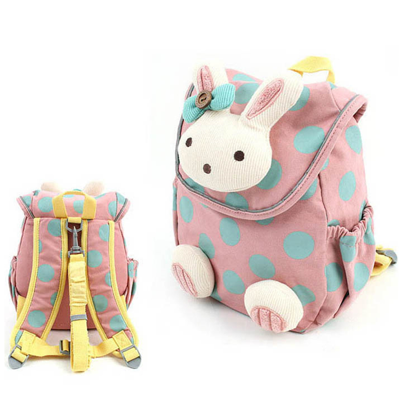 mochilas Christmas Gift Cute Rabbit Kids Backpack Cotton Fabric Backpack For Children School Bag Toddler Anti-lost Bags For Age 1-3 Years