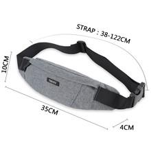 сумка на пояс мужская TINYAT, водонепроницаемая холщовая сумка-пояс для хранения телефона, для путешествий, повседневная сумка-пояс униона, дл...(Китай)