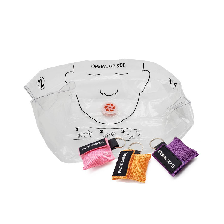CPR Resuscitator CPR barrier First Aid Skill Training CPR Shield with Keychain