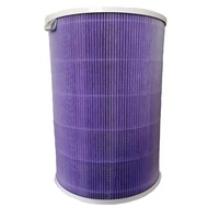 China factory all new high quality 0.3 micron pleated H12 HEPA carbon cartridge filter for xiaomi 1 2s air Purification