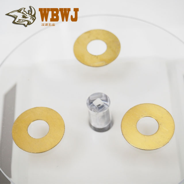 Hardware Custom The metal plate Small Precision High quality Stamping Screw connection fastener Brass Plain washers