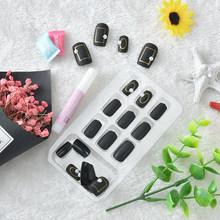 Новый 24 шт./компл. Модные накладные ногти, естественный вид, прозрачные блестящие накладные ногти крой, подходит для ежедневного ношения на ...(Китай)