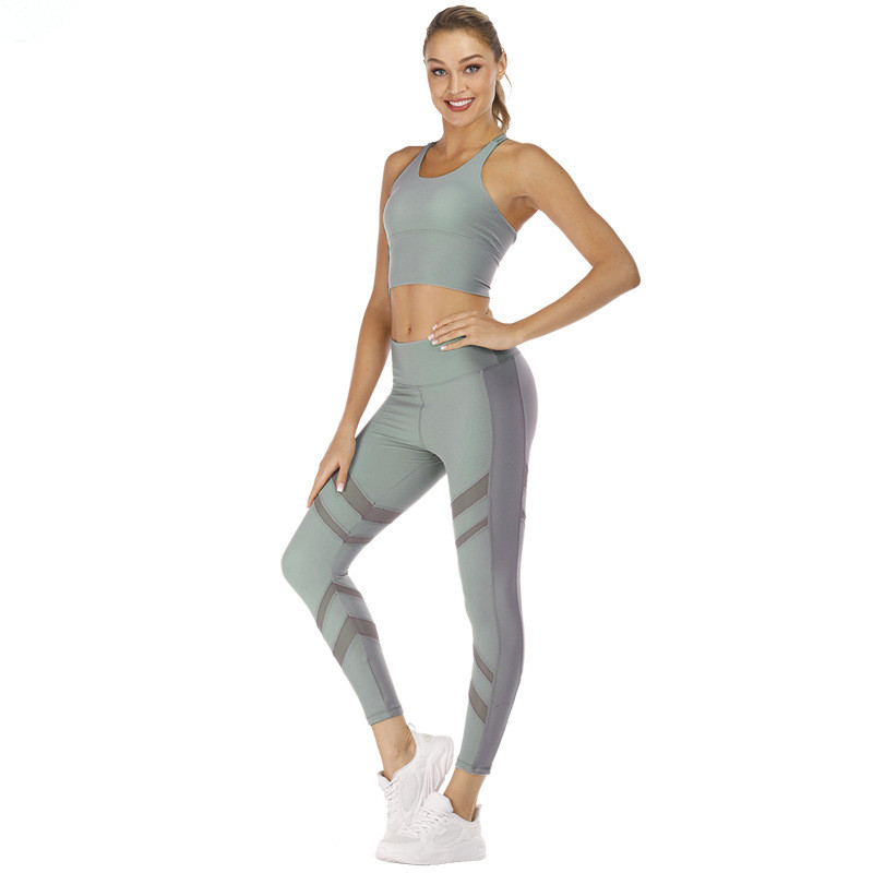 Colorful Sexy Girl Yoga Fitness Wear Sports Bra And Leggings 13
