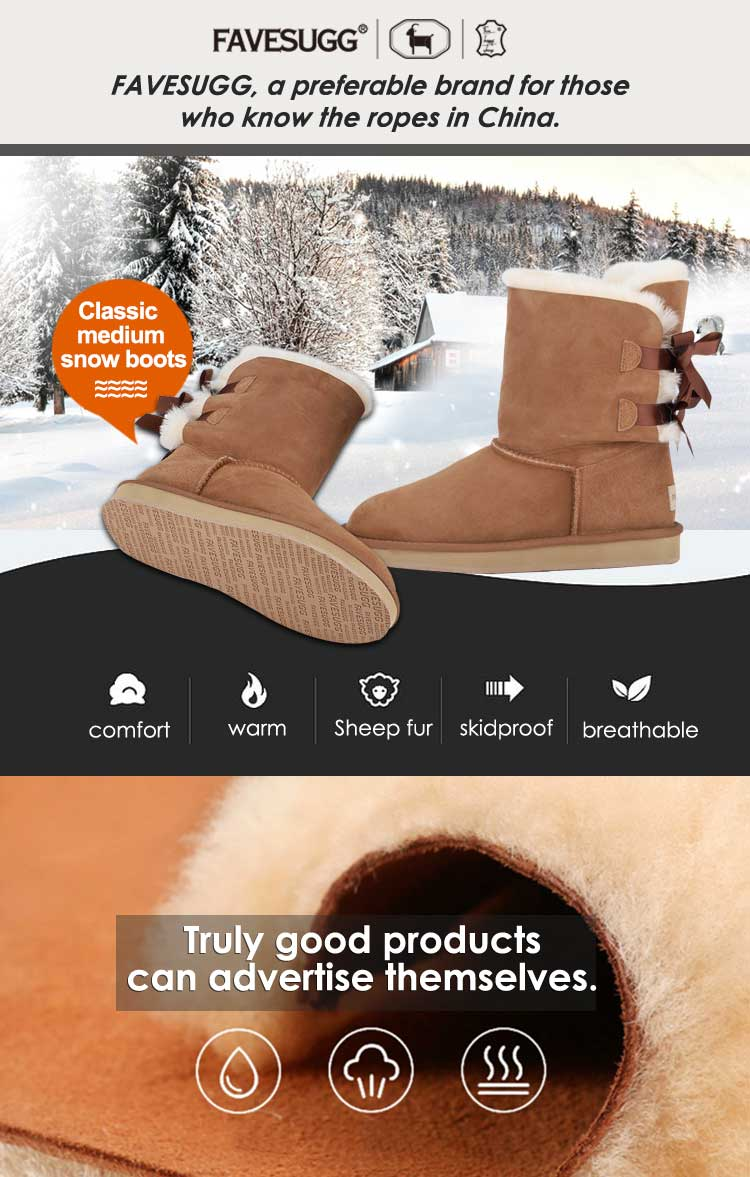 FAVESUGG Top selling sexy sheepskin woman boot made in China
