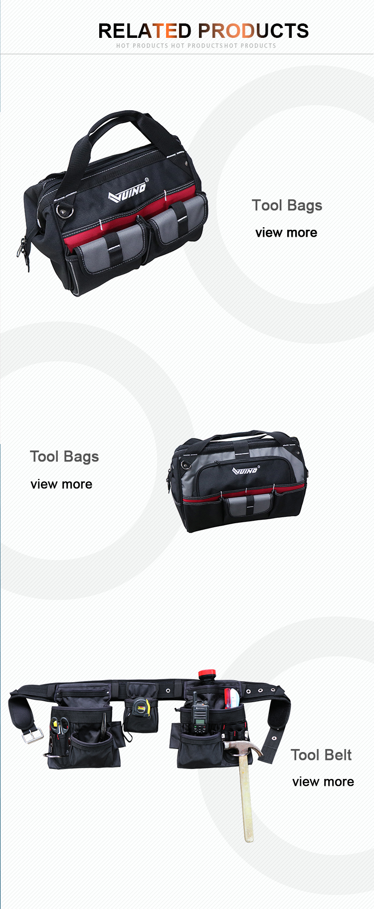 VUINO Electrician Tote Tool Belt Tool waist Belt Pouch Tool Bag Heavy Duty Pouches Manufacturer