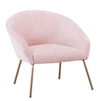 2020 modern pink living room chair gold leg single sofa