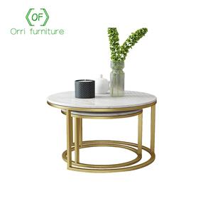 Orri Furniture marble top stainless steel coffee table