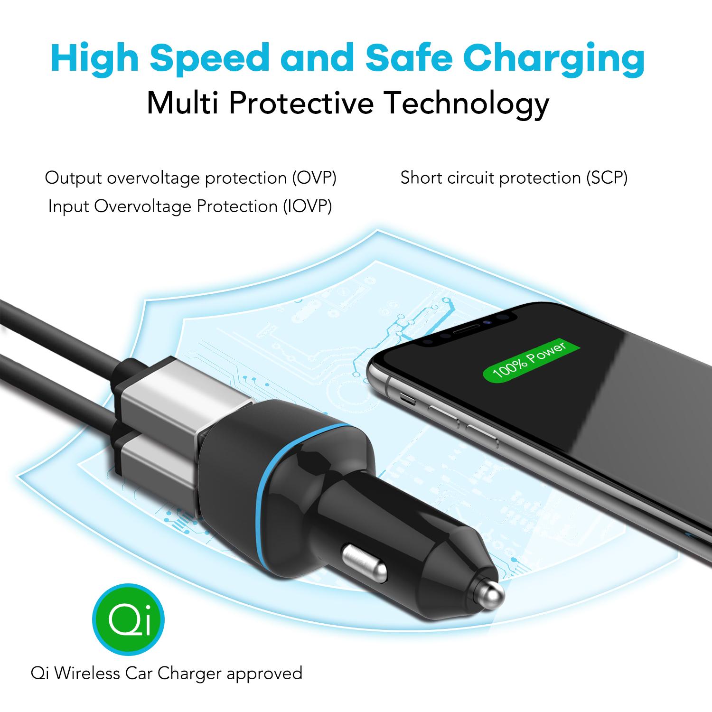 Venda quente Acessórios Para Celular Carregador de Carro Usb Dupla USB Adaptador Para Carro Carregador Para Carro