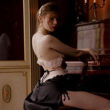 Молодежное французское ночное белье, соблазнительное шелковое нижнее белье, сексуальные ночные сорочки для похудения, Женская кружевная т...(Китай)