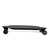 Flexible deck longboard electric skateboard with larger standing area