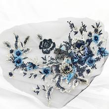 1 шт., 18 цветов, бисер для ногтей, Европейский стиль, вышивка нашивка на одежду, кружевная ткань, сделай сам, модные патчи ручной работы(Китай)