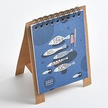 2020 ручной рисунок свежий мультфильм мини настольный бумажный календарь двойной ежедневный расписание Настольный планировщик годовой Орга...(Китай)