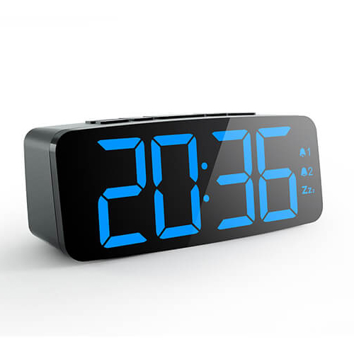 2018 Promotional Gift Digital Alarm Clock Multifunctional Small Cube LED USB Clock for Home Office