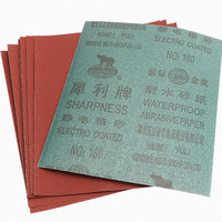 SHARPNESS hot sale Aluminum oxide waterproof sandpaper sheet 230x280mm grit60-1500