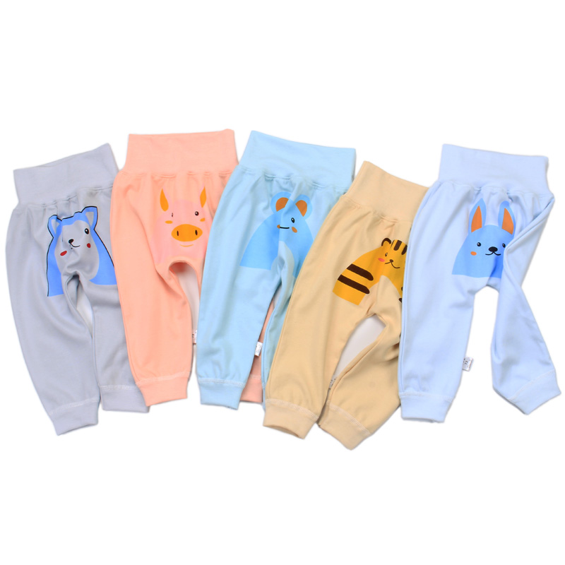 2020 new design cute Print China hot baby 0-3 years old 100% cotton high waisted pants baby Harem Pants