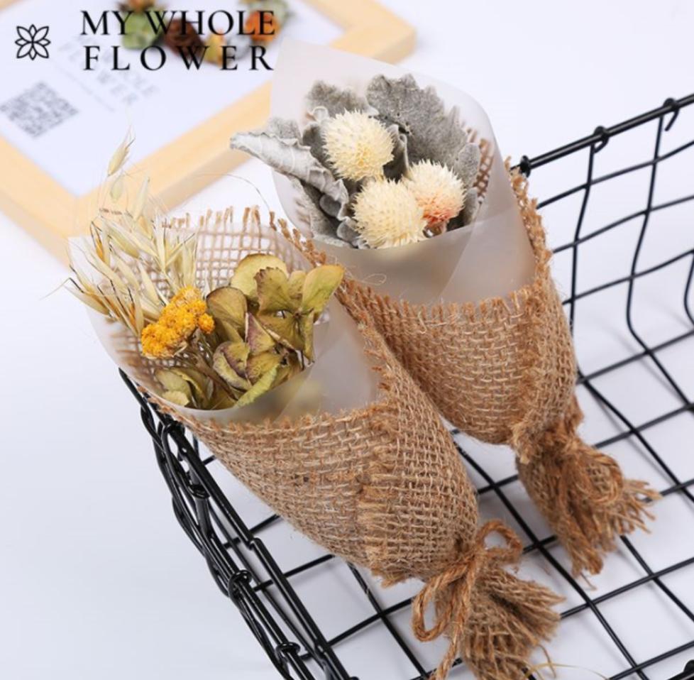 ประดิษฐ์ช่อดอกไม้ของขวัญอุปกรณ์เสริม Rose Eucalyptus Golden ลูกข้าวโอ๊ตคาร์เนชั่นแห้งดอกไม้ช่อดอกไม้