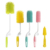 Long handle dust brush cleaner silicone baby water bottle cleaning brush