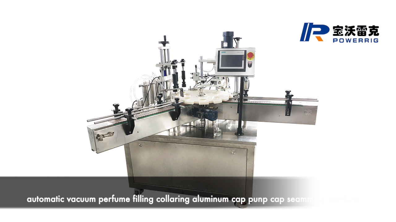 Automatic deodorant body spray bottle filling capping machine