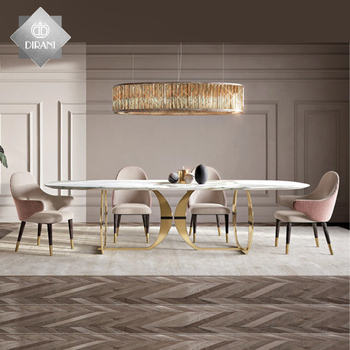 stainless steel leg dining table with chairs diningroomsets modern luxury marble stone top metal dining tables sets