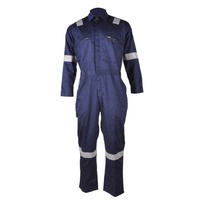 100 cotton manufacturer reflective safety navy coverall uniform