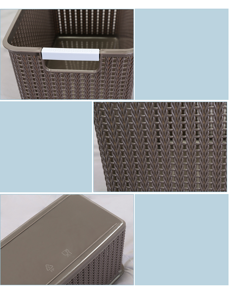 Simples Design Multiuso Caixa De Armazenamento De Plástico Cesta de alimentos Sem Tampa Caixa de Armazenamento de Cubo