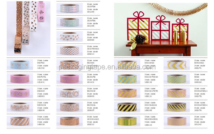 Wholesale custom gold washi tape decoration tape