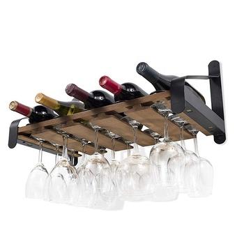 Factory Customized Wooden Liquor Bottle Display Shelf Wine Rack Display Cabinet