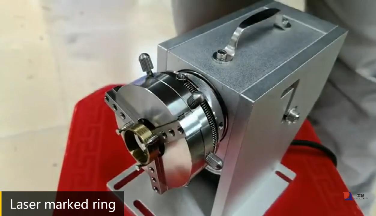 ZIXU Galvanize 50W Miniหมุนทองและแหวนเงินเครื่องประดับเลเซอร์แกะสลักเครื่อง