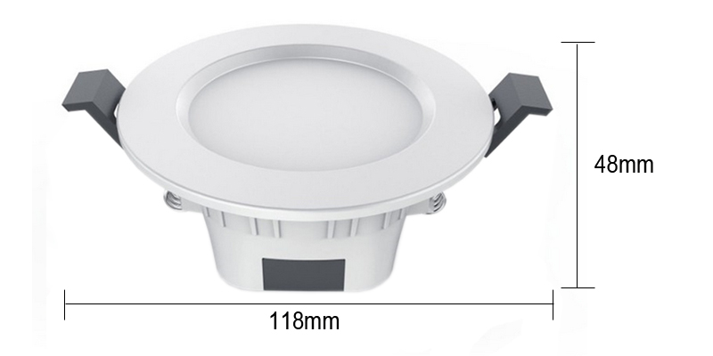 New Smart Downlight Bluetooth Mesh 5W RGBW LED Light Dimmable Remote Control White & Warm Light Apply To Android/IOS