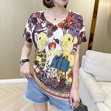 Женская футболка с круглым вырезом YISU, модная футболка с коротким рукавом и принтом компаса, лето 2020(China)