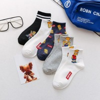 2019 HOT spring and summer new combed cotton deodorant men's socks Simpson cartoon Funny Happy Sock unisex SOCKS
