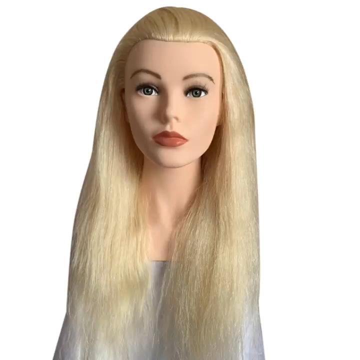Russo capelli umani mannequin testa
