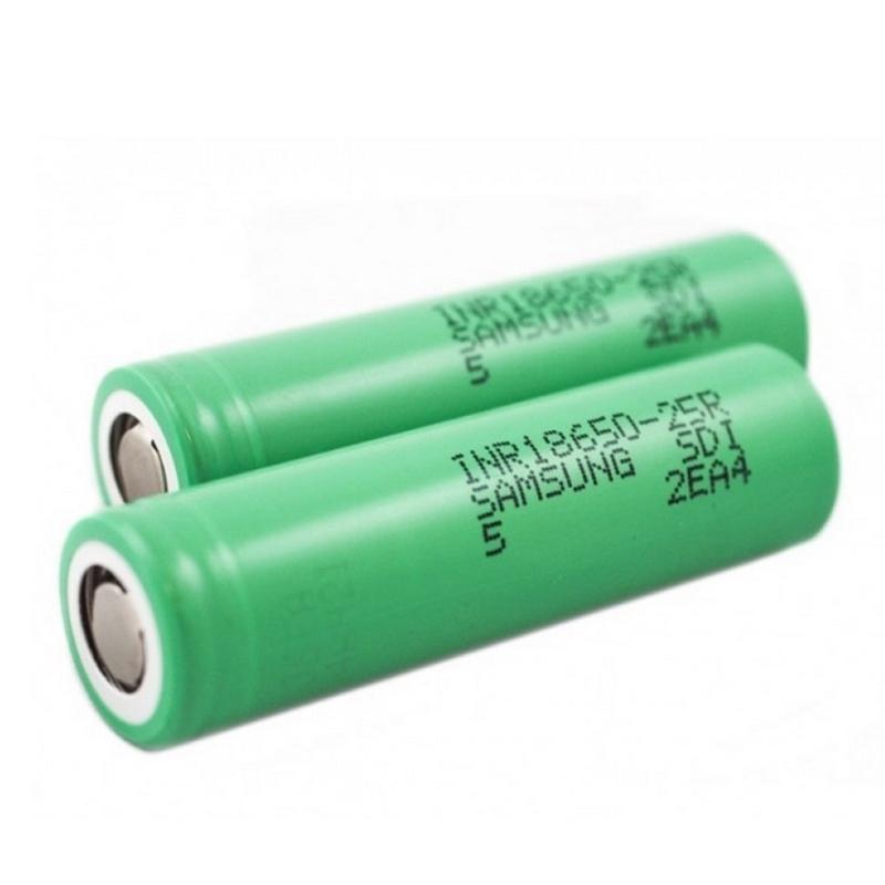 Compra a granel de china, 8C 20A 2500mah 18650 25R, batería de litio recargable para Samsung inr18650-25r