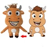 Custom Cow Mascot Shape Super Soft Toy Baby Learning Custom Plush Cow Doll