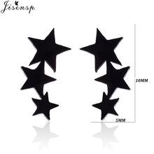 Женские серьги-гвоздики из нержавеющей стали, минималистичные круглые серьги с черным сердцем и звездой, аксессуары в стиле панк, подарки(Китай)