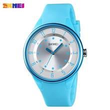 SKMEI японский кварцевый механизм водонепроницаемые женские часы простые женские наручные часы Relogio Feminino 1590 женские часы 4 вида цветов(Китай)