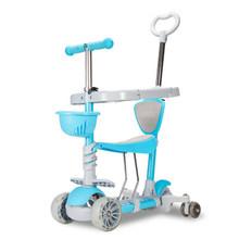 ARDEA детский скутер, От 1 до 10 лет, детский Электрический скутер, регулируемый, для мальчиков и девочек, с мигающим колесом, складной, алюминиев...(Китай)