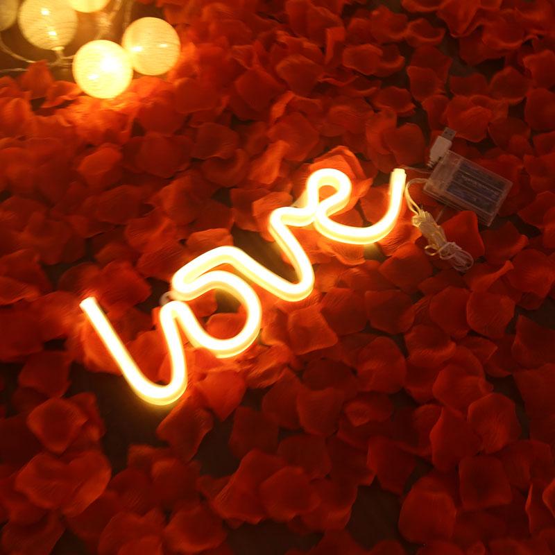 2020 LOVE modeling lamp led lighting custom neon sign for party bedroom dekoration